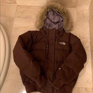 The North Face hooded puffy jacket